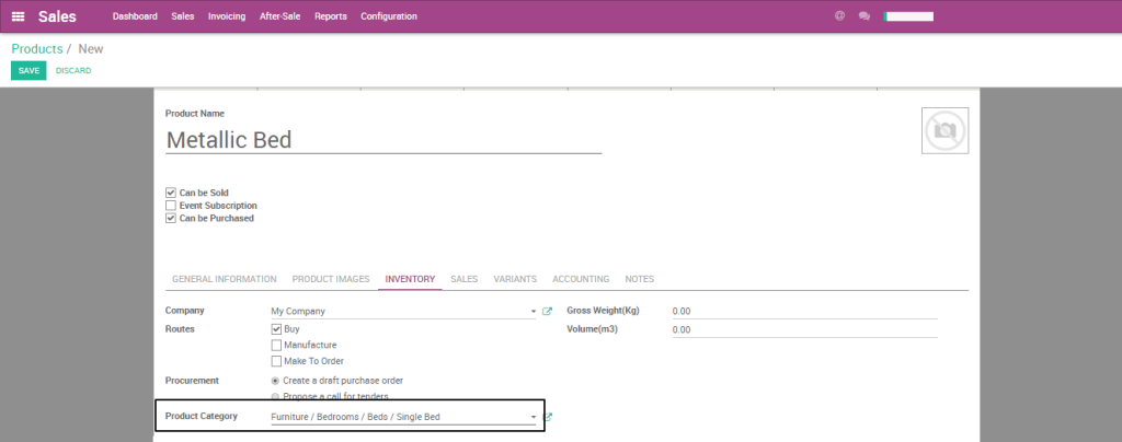 Auto Product Code Generation based on Category in Odoo
