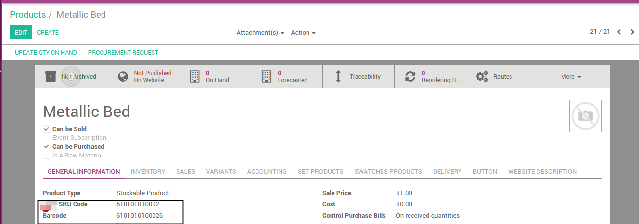 Product Code and Barcode based on Category Code #Odoo