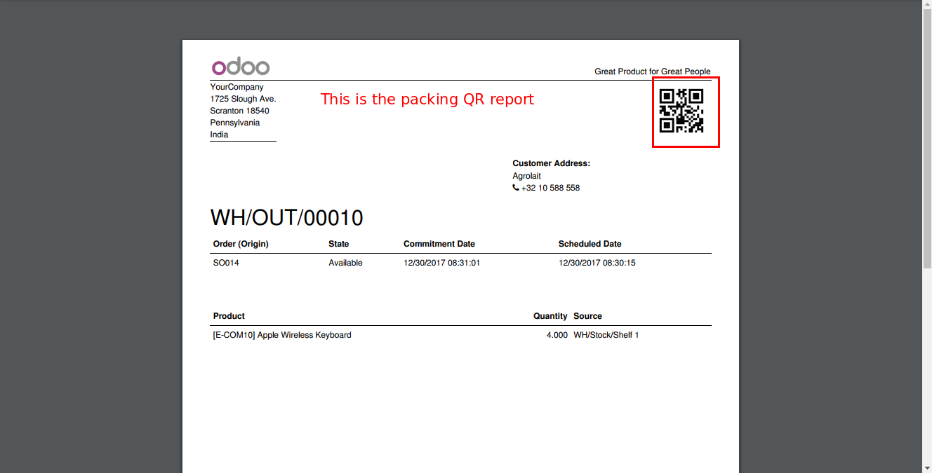 QR Code For Product & Inventory Operations #OdooMart