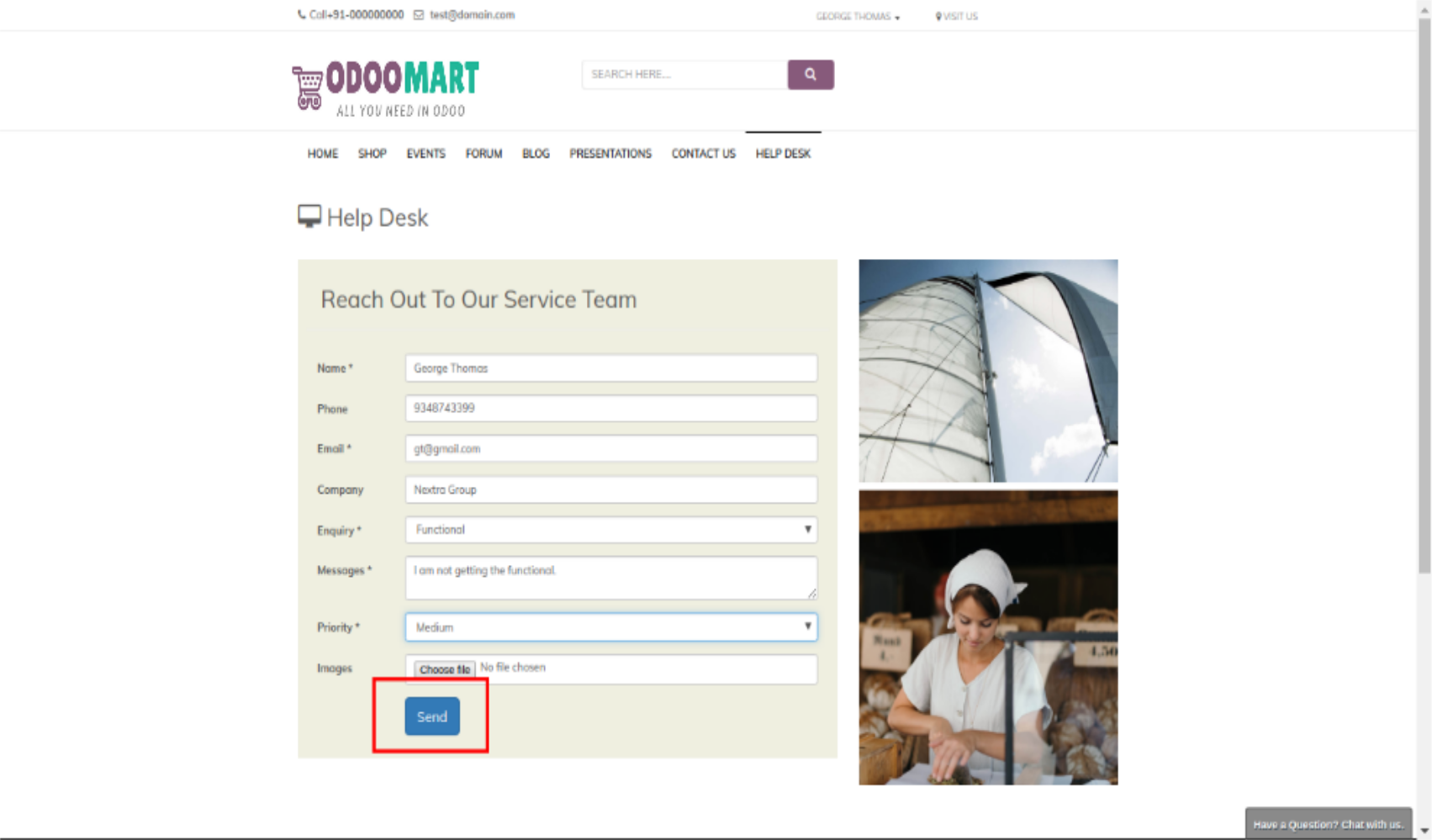 WEBSITE HELPDESK #ODOO