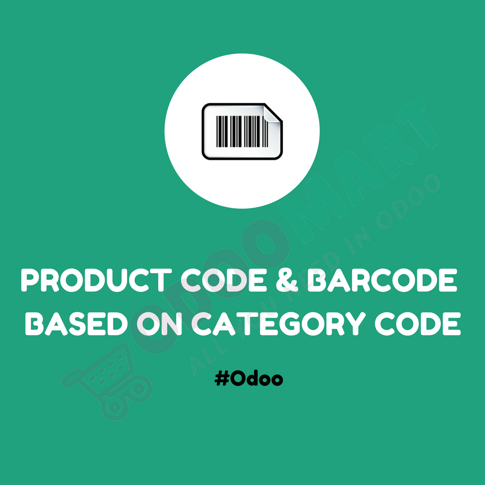 Product Code and Barcode based on Category Code #OdooMart