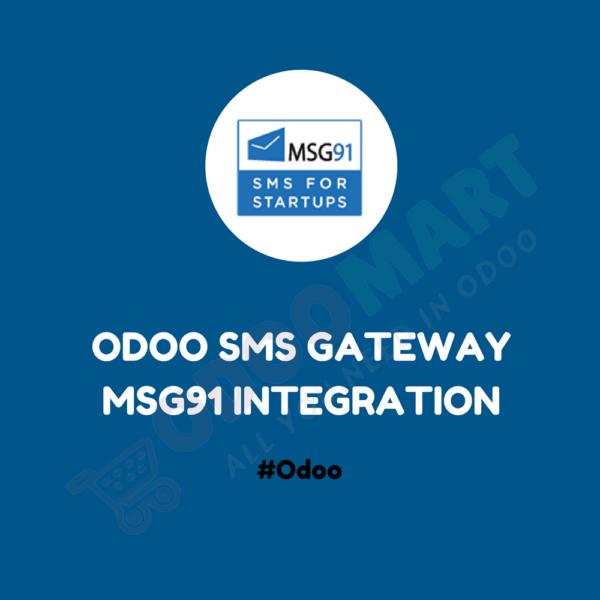 Odoo SMS Gateway MSG91 Integration #OdooMart