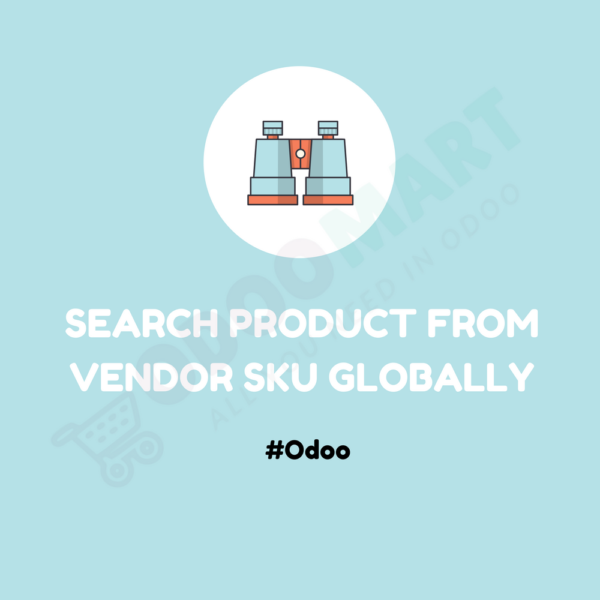 Search Product From Vendor SKU Globally #OdooMart
