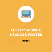 Custom Website Header & Footer #OdooMart
