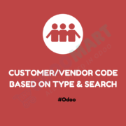 Customer / Vendor Type & Code and search #OdooMart